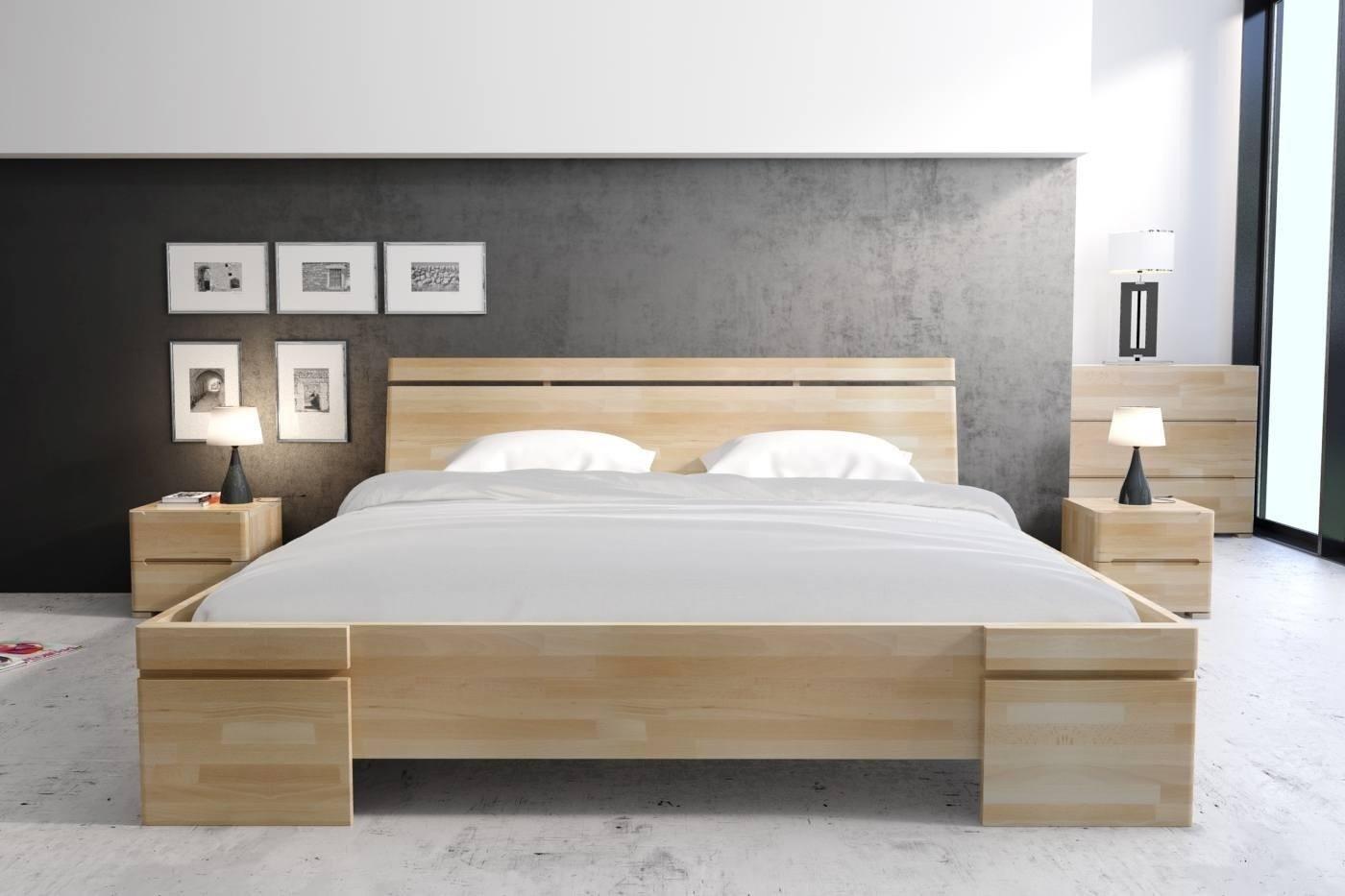 łóżko Drewniane Bukowe Ze Skrzynią Na Pościel Skandica